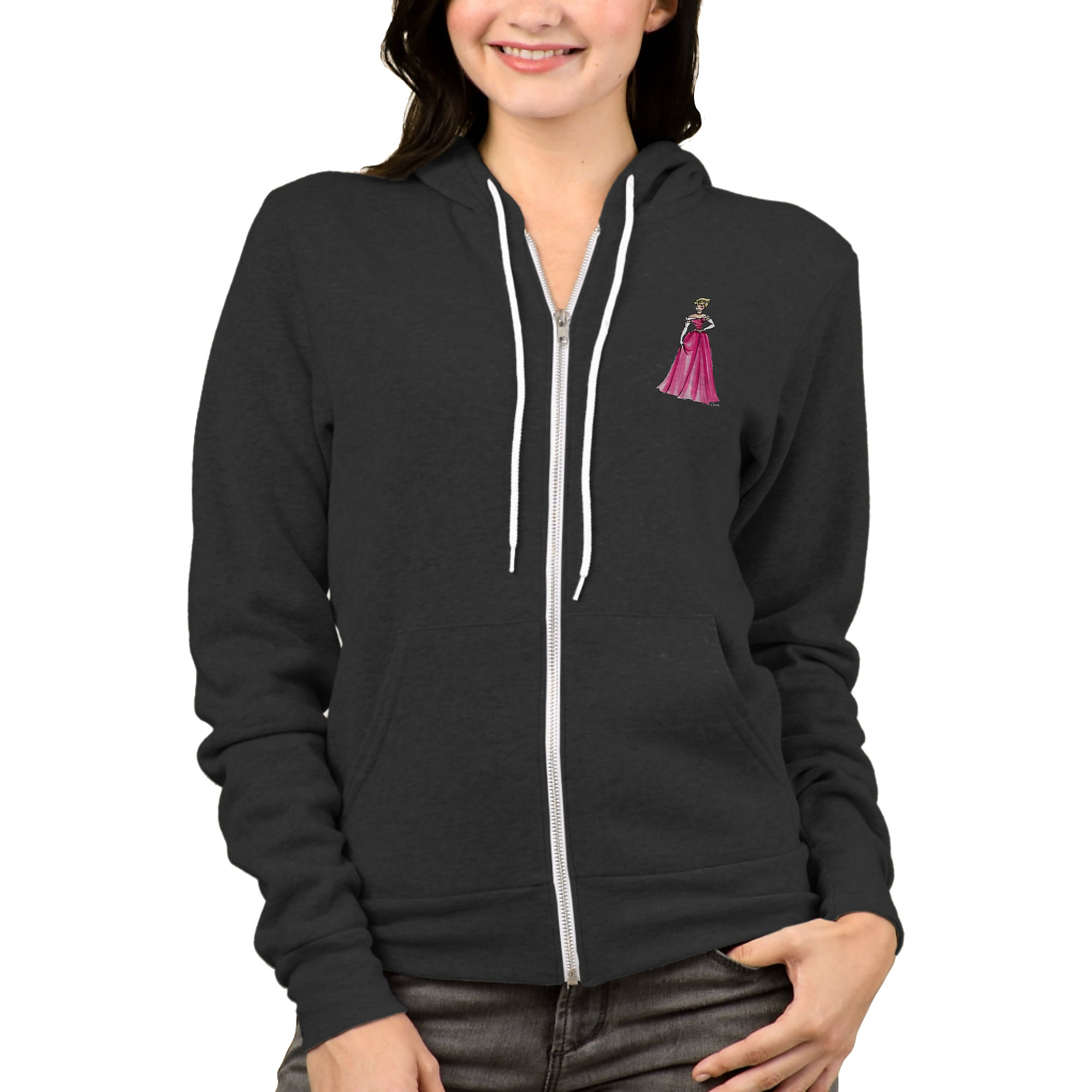 Aurora Zip Hoodie for Women - Art of Princess Designer Collection