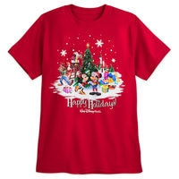 Mickey Mouse and Friends Holiday T-Shirt - Walt Disney World - Red - Adults
