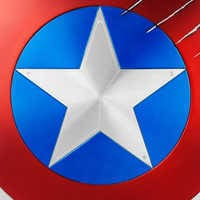 Image of Captain America Shield with Black Panther Claw Marks - Marvel Masterworks Collection Authentic Film Prop Duplicate - Limited Ed. # 5