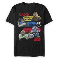Image of Star Wars ''Best Father in the Galaxy'' T-Shirt for Men # 1