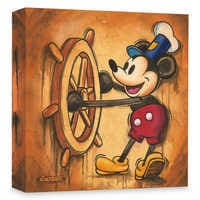 Image of Mickey Mouse ''Happy Skipper'' Giclée on Canvas by Trevor Carlton # 1