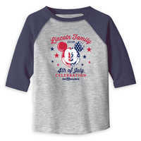 Image of Toddlers' Mickey Mouse 4th of July Raglan T-Shirt - Walt Disney World - Customized # 1