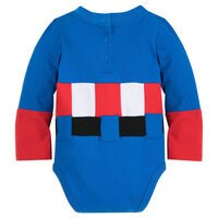 Image of Captain America Costume Bodysuit for Baby # 5