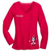 Image of Minnie Mouse Holiday Plaid PJ Set for Women - Personalizable # 5