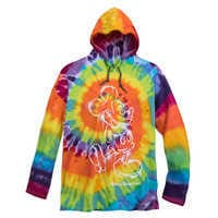 Image of Mickey Mouse Long Sleeve Hooded Tie-Dye T-Shirt for Adults - Walt Disney World # 1