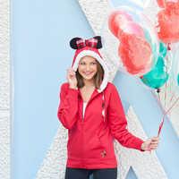 Image of Santa Minnie Mouse Zip Hoodie for Women # 2
