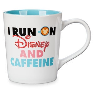 Mickey Mouse ''I Run On Disney and Caffeine'' Donut Mug