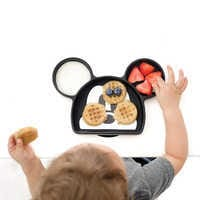 Image of Mickey Mouse Silicone Grip Dish by Bumkins # 2