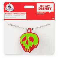 Image of Poisoned Apple Necklace with Compact Mirror - Snow White and the Seven Dwarfs # 6