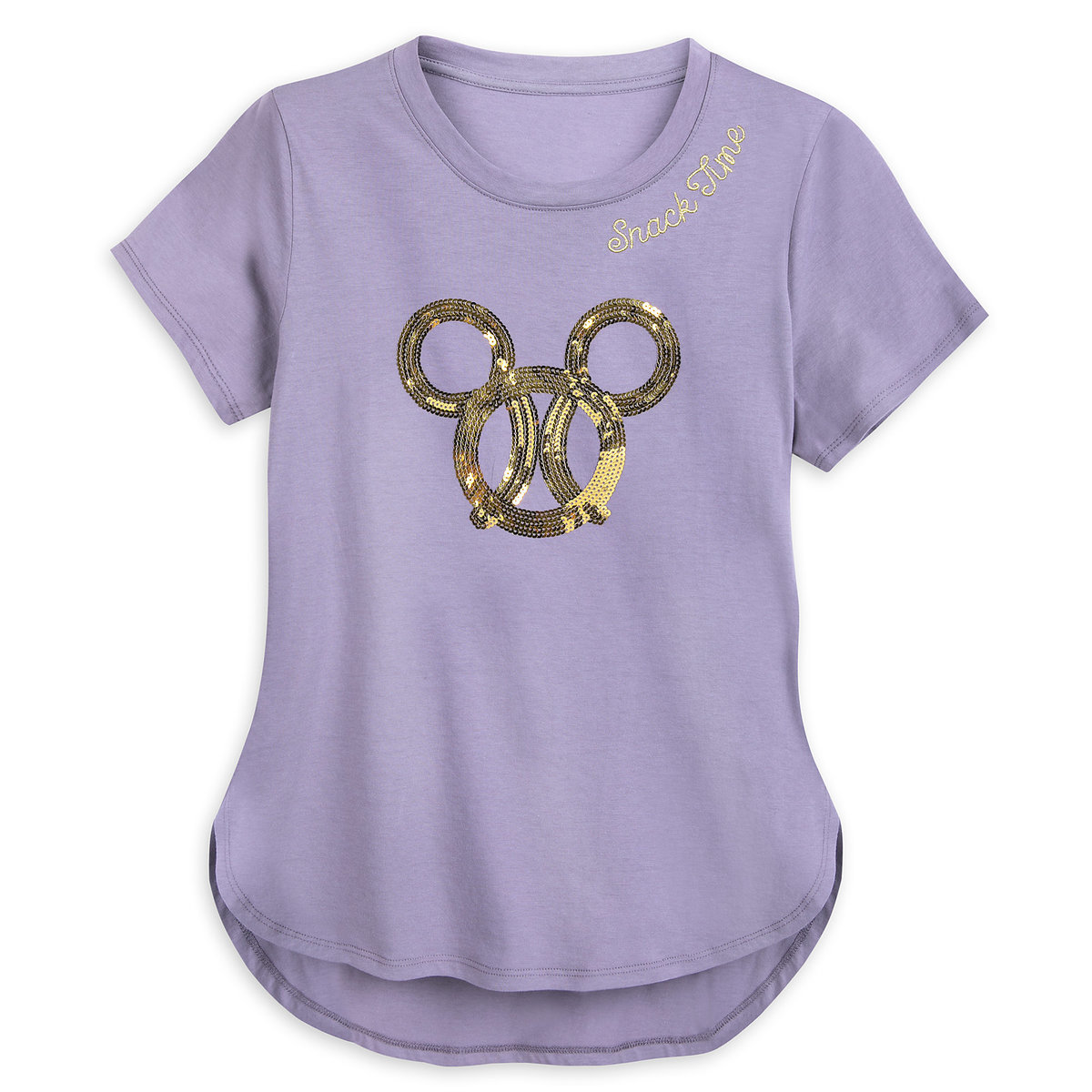 cf45d8a05 Product Image of Mickey Mouse Sequined Pretzel Fashion T-Shirt for Women # 1