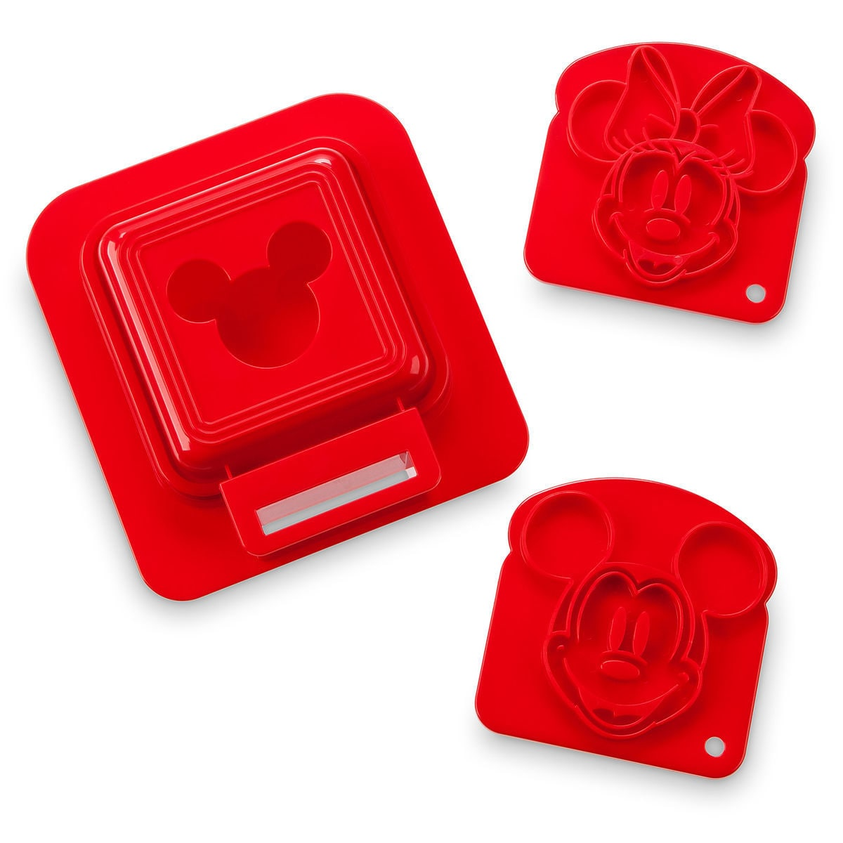 Mickey And Minnie Mouse Sandwich Stamp And Crust Cutter Set Disney