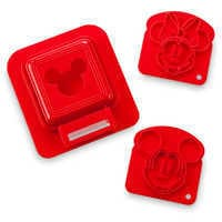 Image of Mickey and Minnie Mouse Sandwich Stamp and Crust Cutter Set - Disney Eats # 1