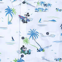Image of Mickey Mouse Button Shirt for Men by Tommy Bahama - White # 4