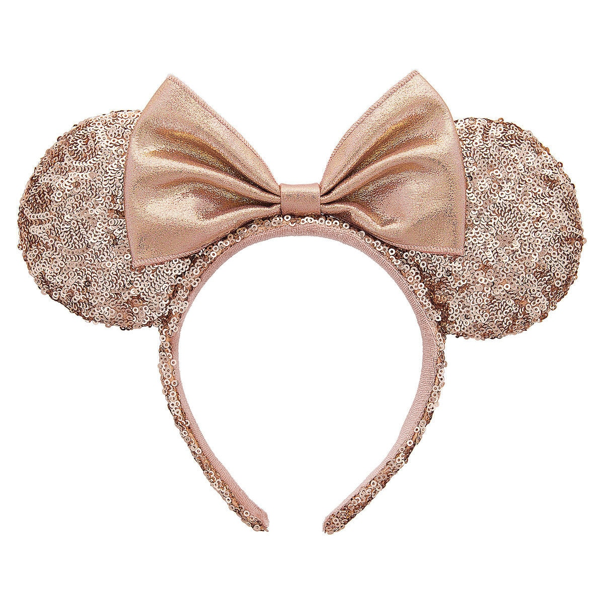 Perfect Minnie Mouse Rose Gold Sequined Ear Headband | shopDisney LE98