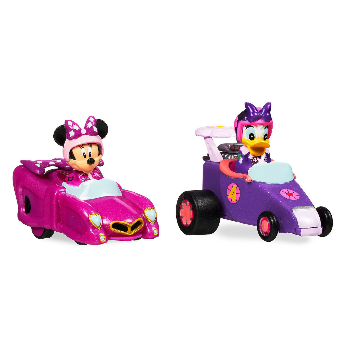 mickey and the roadster racers pullback racers set minnie mouse