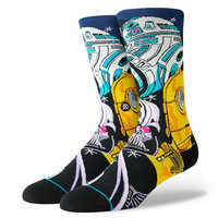 Image of Star Wars Warped R2-D2 Socks for Adults by Stance # 1