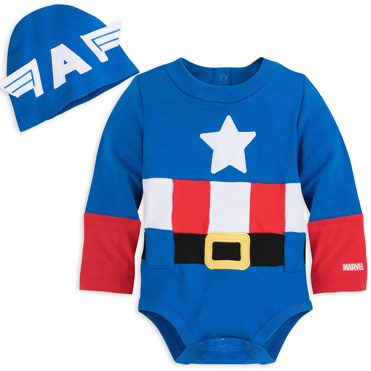 fb2fc969a Product Image of Captain America Costume Bodysuit for Baby # 1