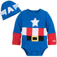 Image of Captain America Costume Bodysuit for Baby # 1