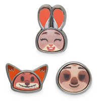 Image of Zootopia Disney Emoji Mini Pin Set # 1
