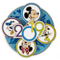 Image of Mickey Mouse and Friends Walt Disney World Spinner Pin - 2019 # 2