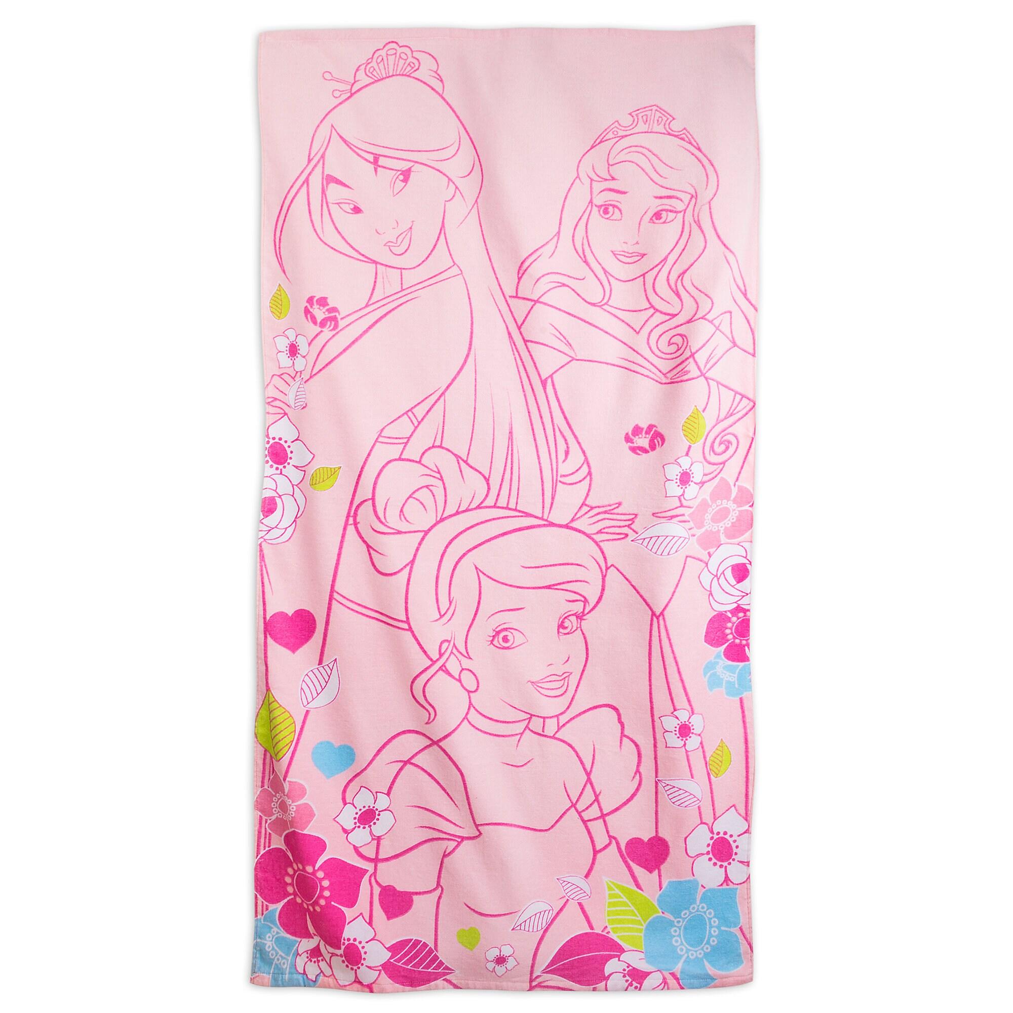 Monogrammed Princess Beach Towel: Disney Movies
