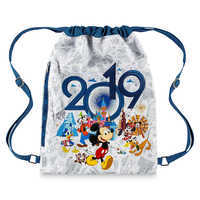 Image of Mickey Mouse and Friends Cinch Sack - Disneyland 2019 # 1