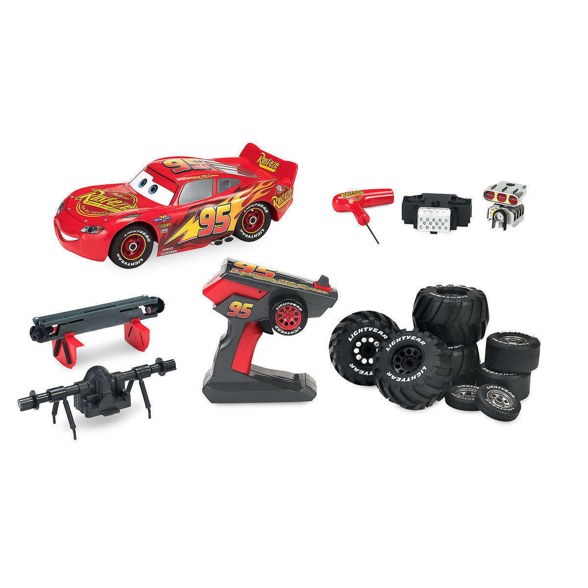 product image of lightning mcqueen build to race remote control vehicle 1