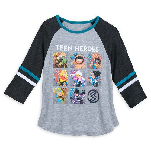 Marvel Rising ''Teen Heroes'' Raglan Top for Girls