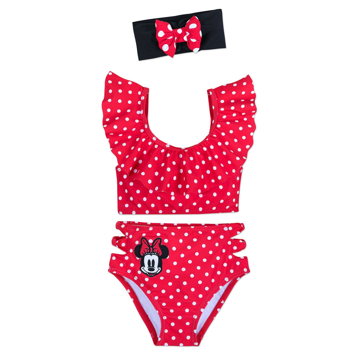 1735a9262d Product Image of Minnie Mouse Deluxe Swimsuit Set for Girls # 1