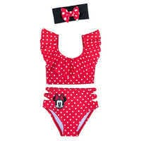 Image of Minnie Mouse Deluxe Swimsuit Set for Girls # 1