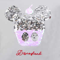 Image of Mickey Mouse Cupcake Reversible Sequin T-Shirt for Women - Disneyland # 2