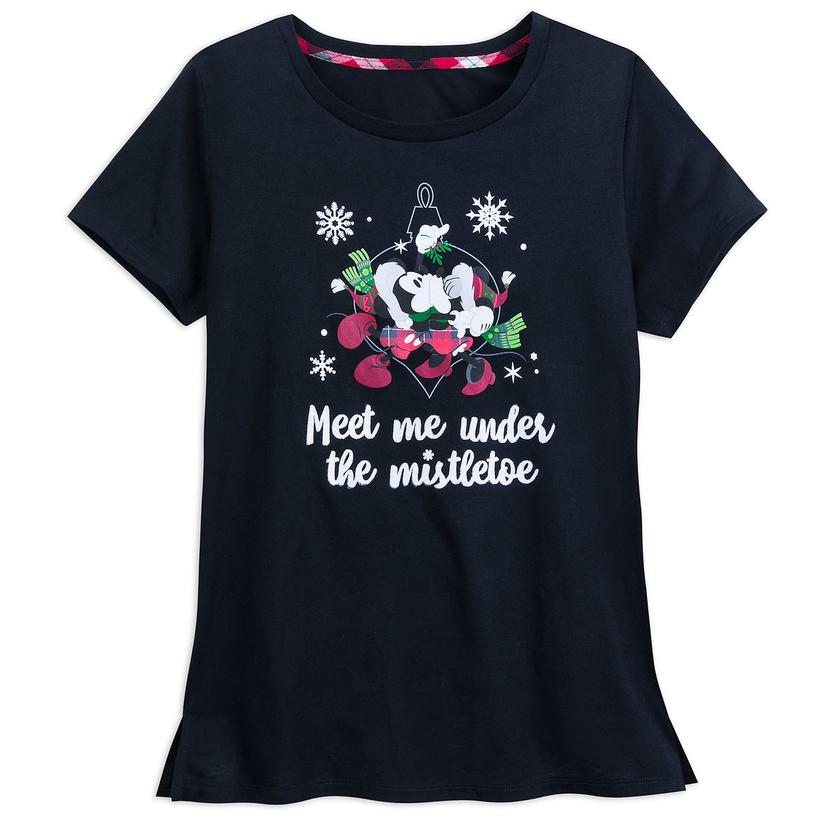 5e44052f9155df Product Image of Mickey and Minnie Mouse Holiday Sleep T-Shirt for Women # 1