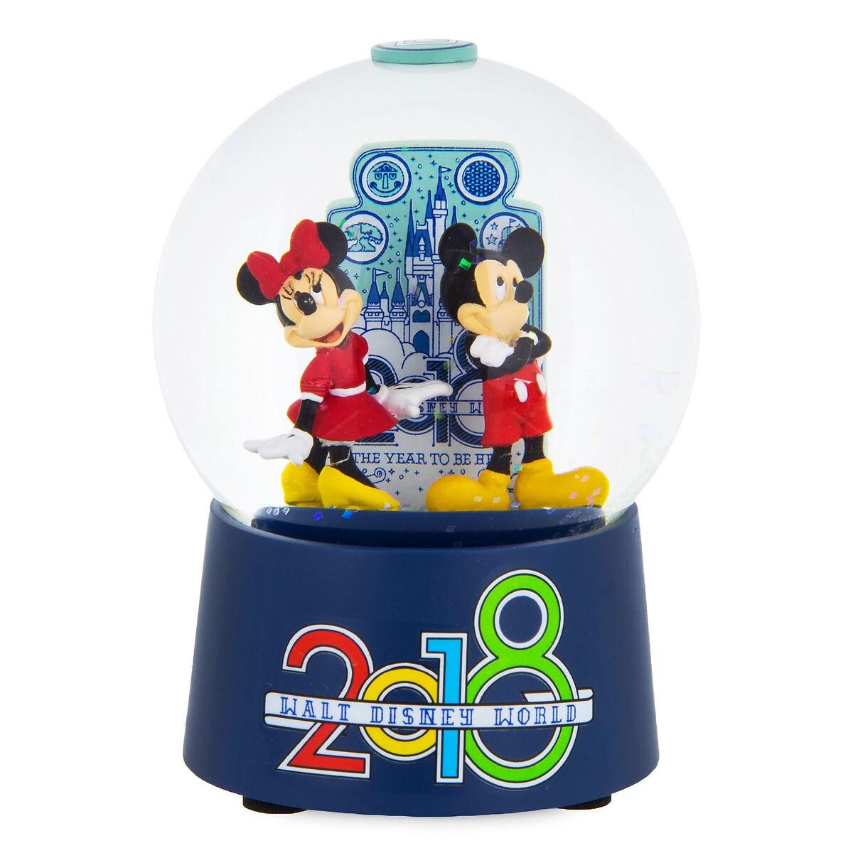 Mickey and Minnie Mouse Walt Disney World Snowglobe - 2018 | shopDisney