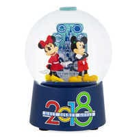 Image of Mickey and Minnie Mouse Walt Disney World Snowglobe - 2018 # 1