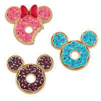 Image of Mickey and Minnie Mouse Donut Pin Set # 1