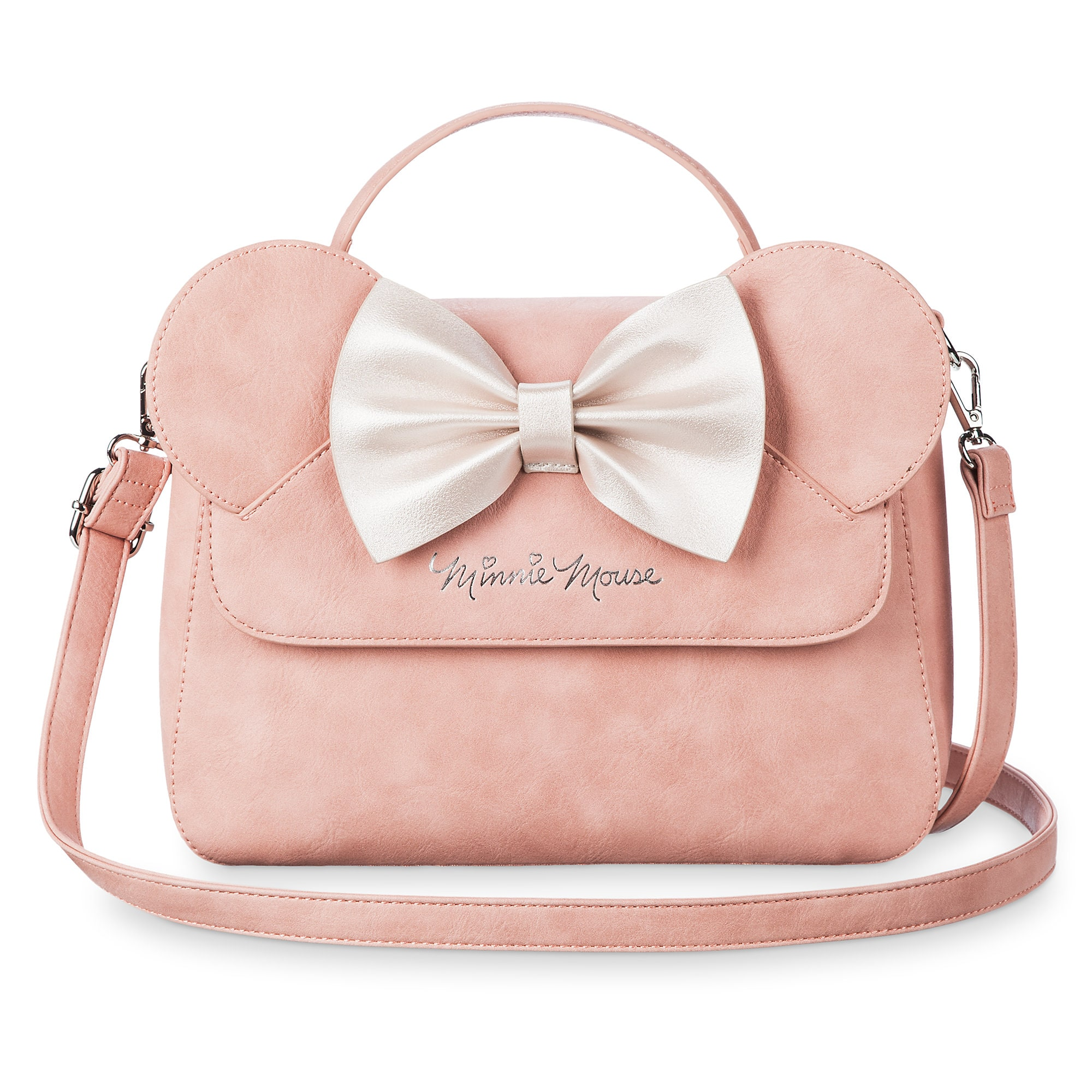 8766dd12c7e Minnie Mouse Pink Bow Crossbody Bag by Loungefly