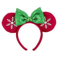 Image of Minnie Mouse Snowflake Ears Headband for Adults # 1