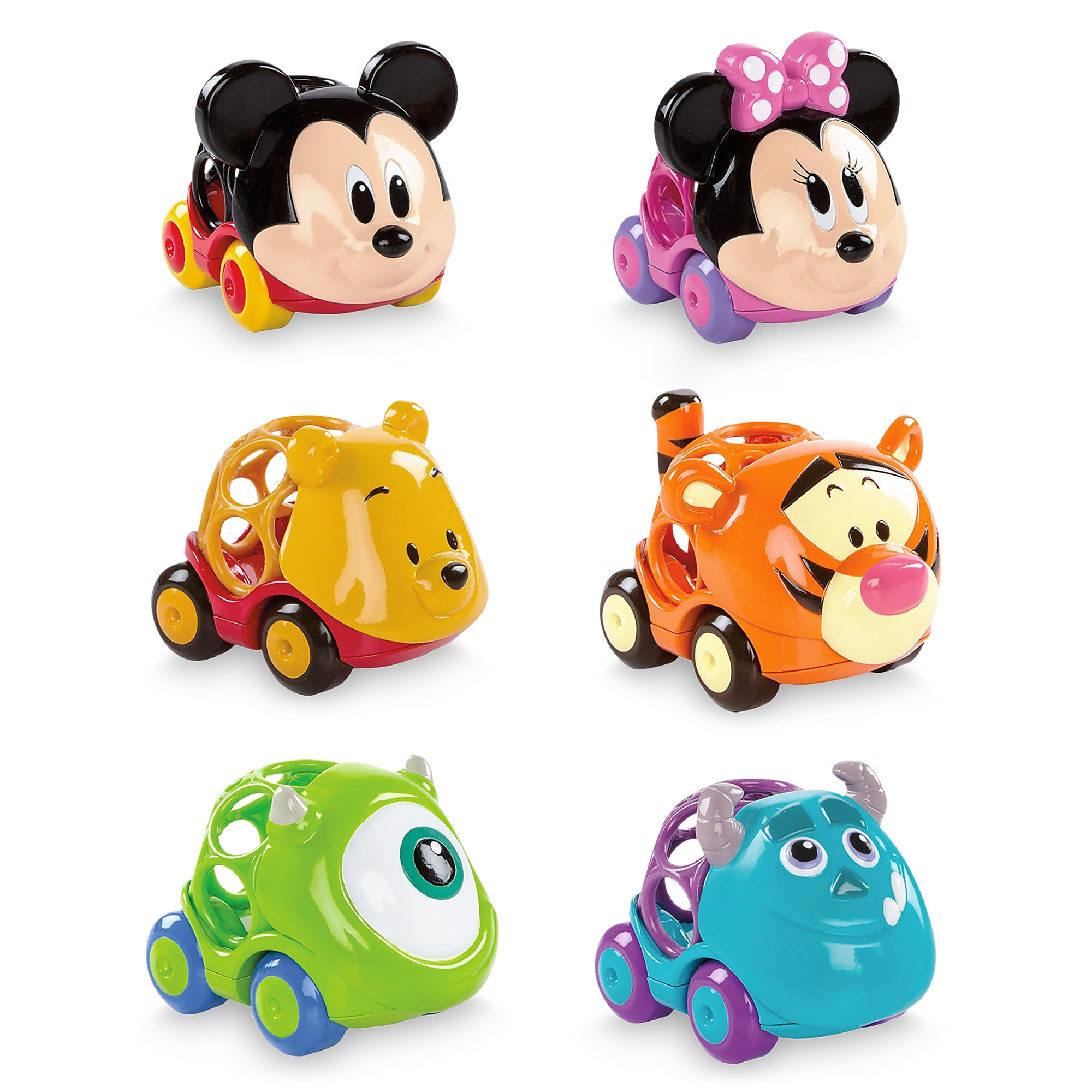 Mickey Mouse and Friends Go Grippers Car Set for Baby by Bright Starts - 6 pc.
