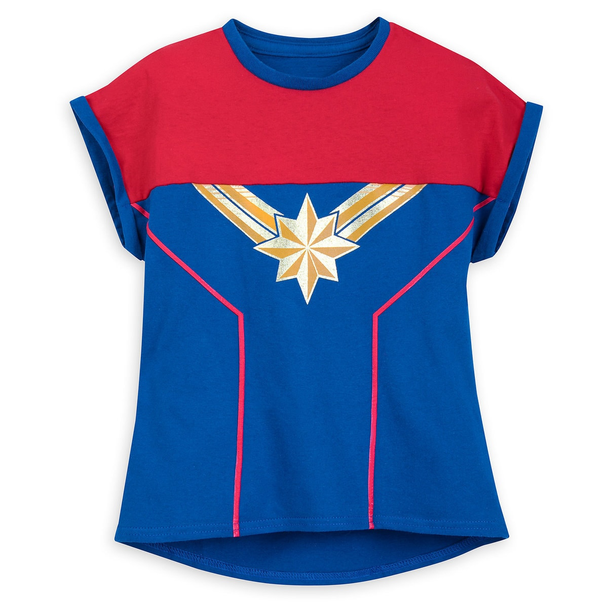 7345791b Product Image of Marvel's Captain Marvel Shirt for Girls # 1