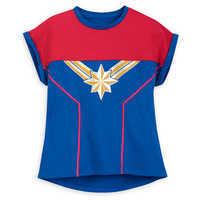 Image of Marvel's Captain Marvel Shirt for Girls # 1