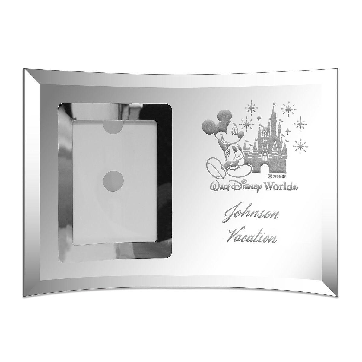 Walt Disney World Glass Frame by Arribas - Small - Personalizable ...