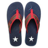 Image of Captain America Flip Flops for Adults # 3