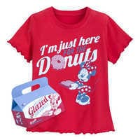 Image of Minnie Mouse Donuts Ringer T-Shirt for Girls # 1