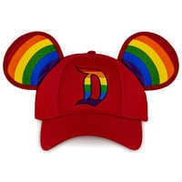 Image of Rainbow Disney Collection Mickey Mouse Ears Baseball Cap for Adults - Disneyland # 1