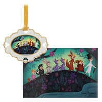 Image of Peter Pan Artist Series Sketchbook Ornament and Lithograph Set - Limited Edition # 1