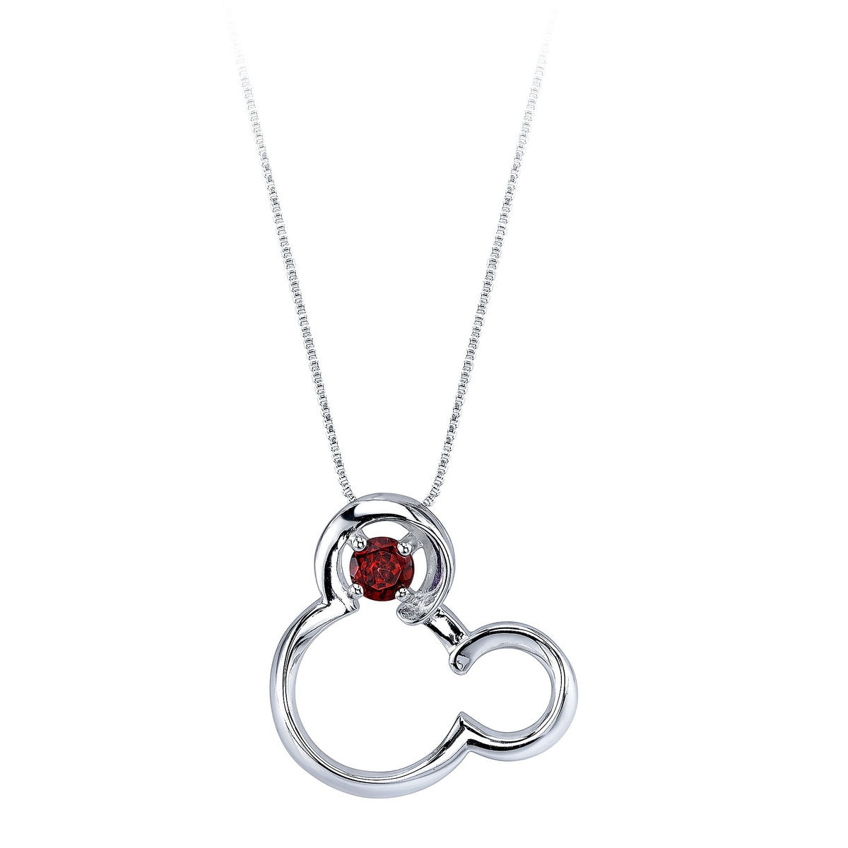 Mickey mouse january birthstone necklace for women garnet shopdisney mickey mouse january birthstone necklace for women garnet aloadofball Images