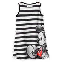 Image of Mickey and Minnie Mouse Striped Dress for Girls - Black # 2