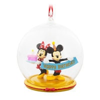 Mickey and Minnie Mouse Birthday Ornament
