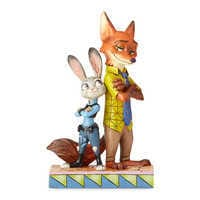 Image of Judy Hopps and Nick Wilde ''Partners in Crime-Fighting'' Figure by Jim Shore - Zootopia # 1