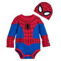 Image of Spider-Man Costume Bodysuit Set for Baby # 1